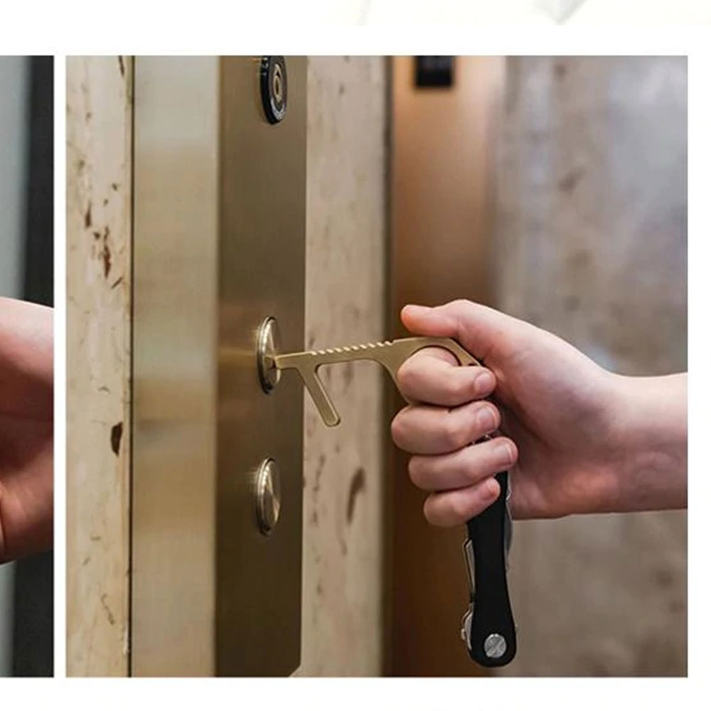 Handy Hygienic Door Opener Button Presser Keychain