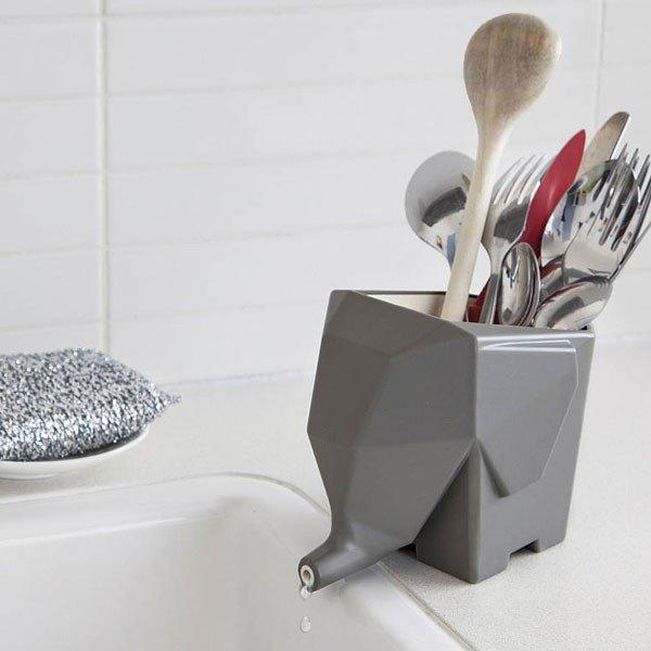 Minimalist Elephant Water Drainer (Grey or White)