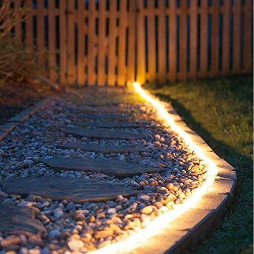 Solar-Powered 16ft Waterproof LED Light Strip
