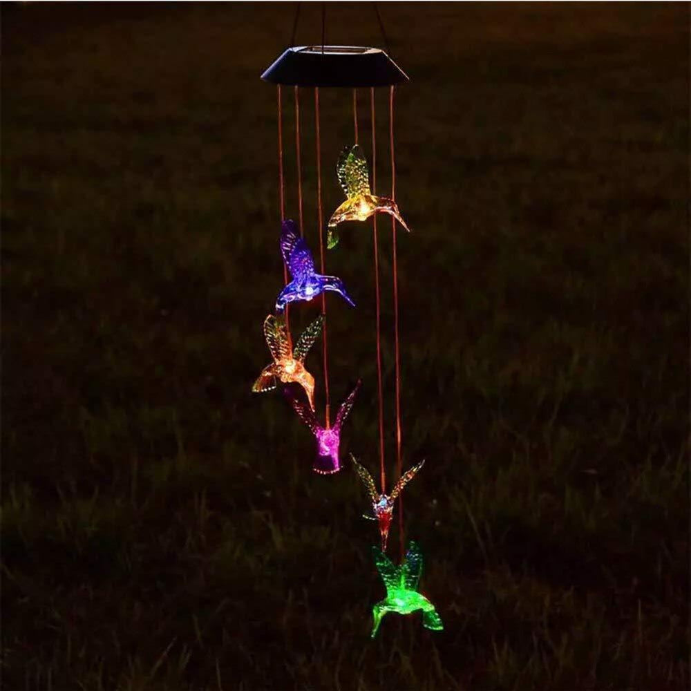 Solar-Powered Auto ON OFF Hanging Hummingbird Lights