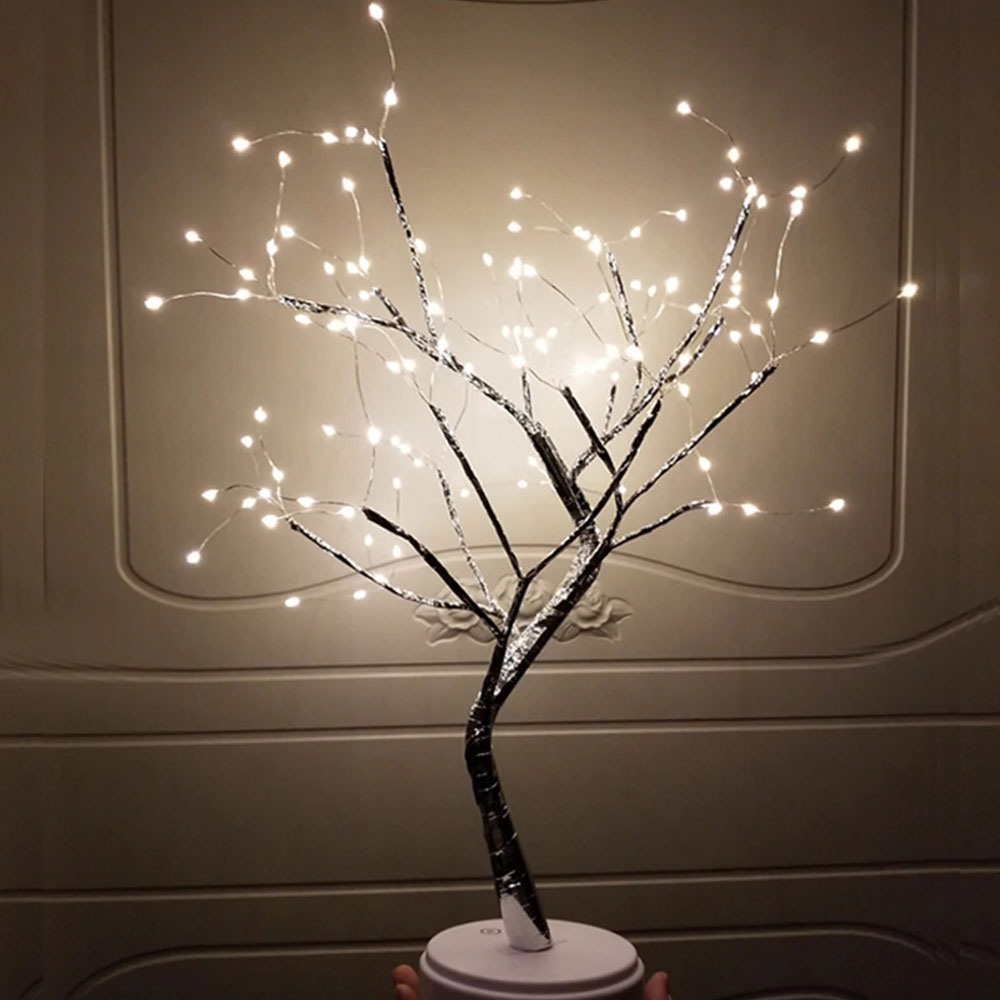 108 LEDs Copper Wire Tree Lamp