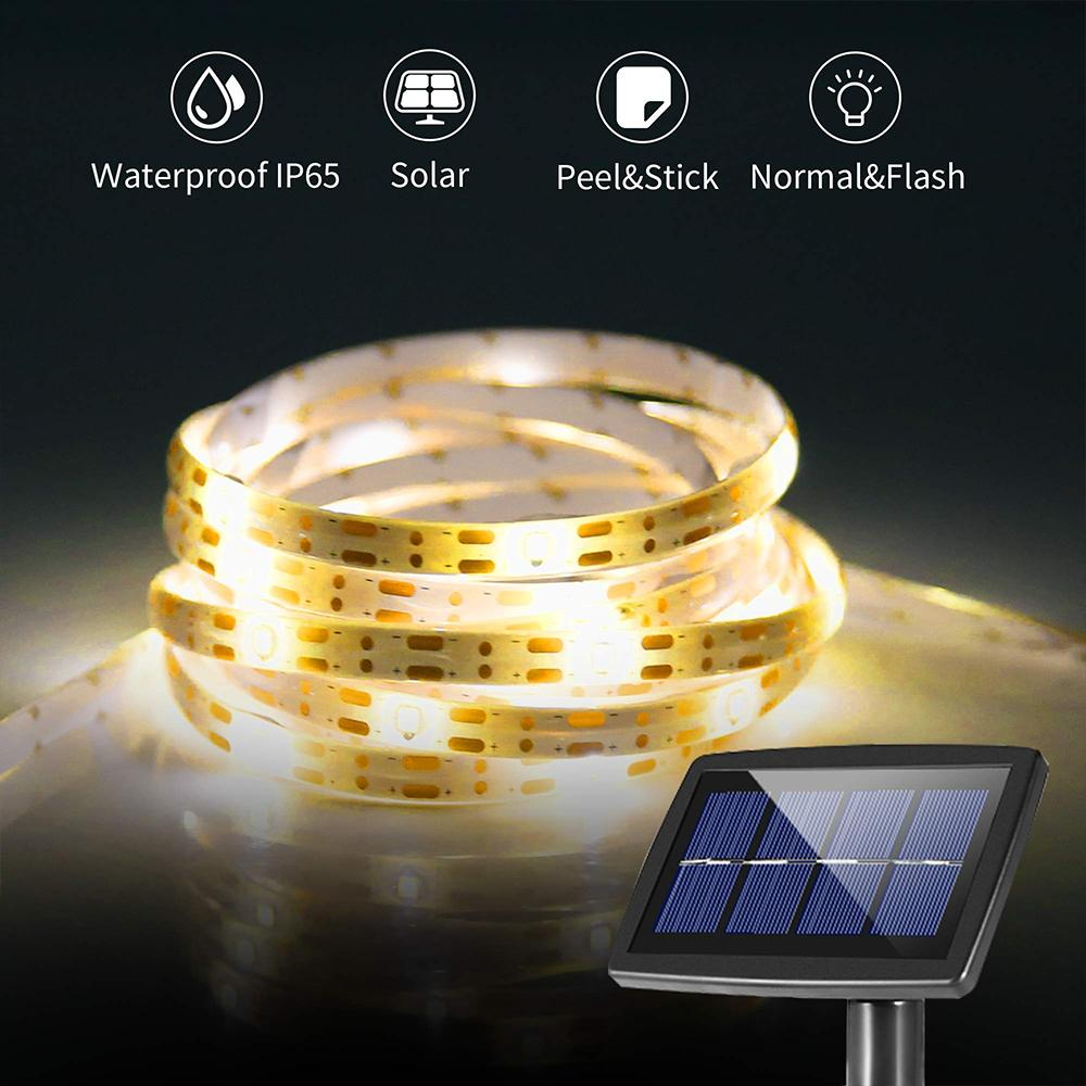 Solar-Powered Extra Bright LED Chips Strip Light