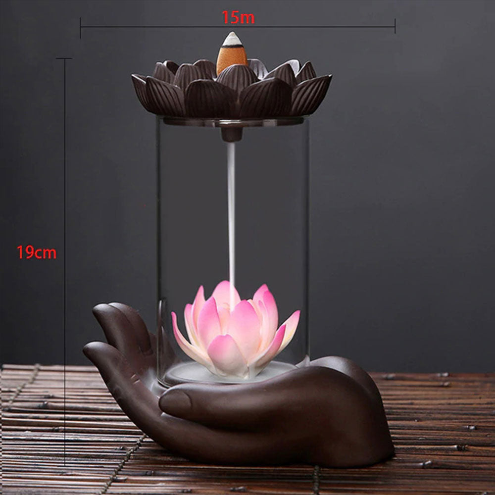 Unique Design Backflow Waterfall Incense Burner