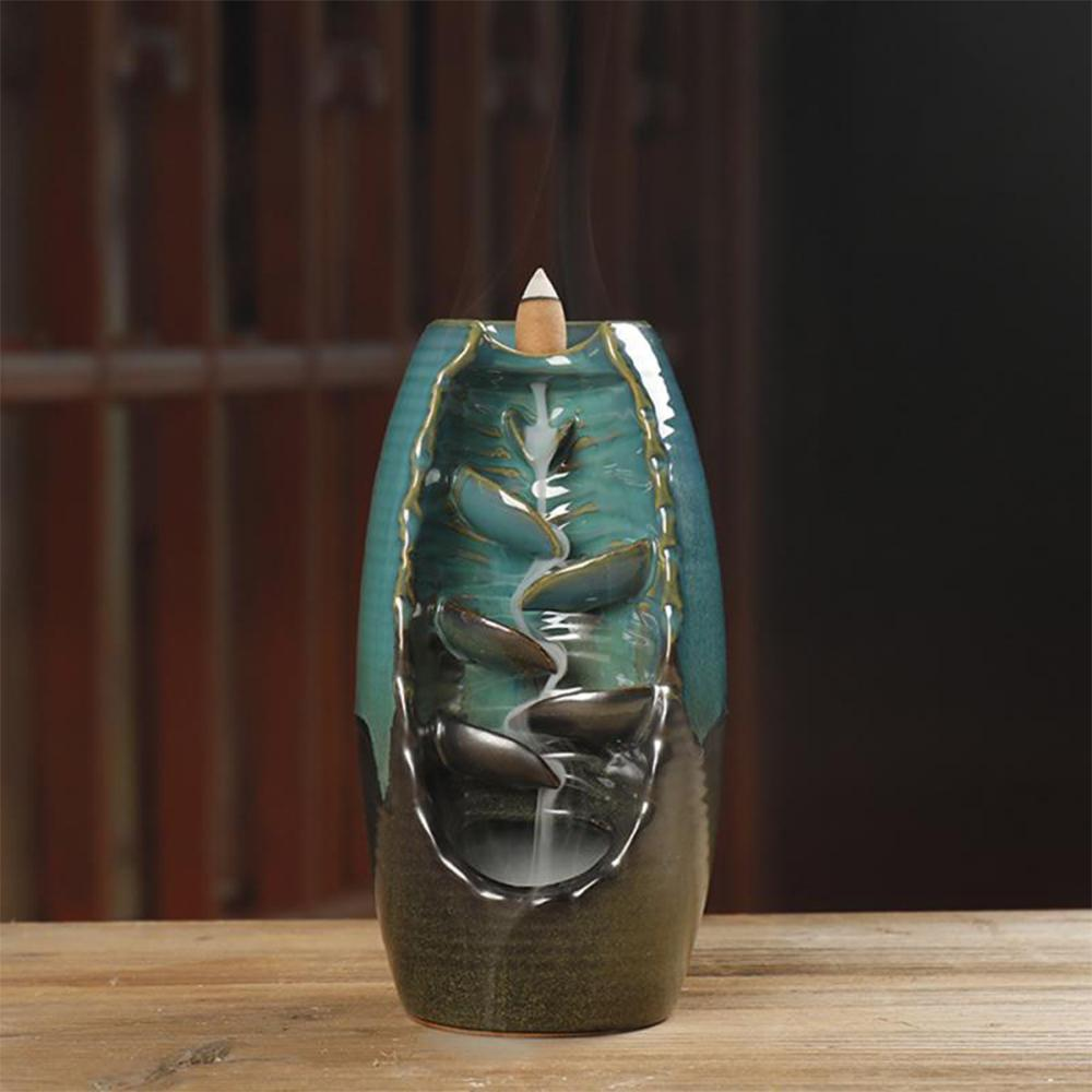 Zen Backflow Incense Burner Mountain Waterfall
