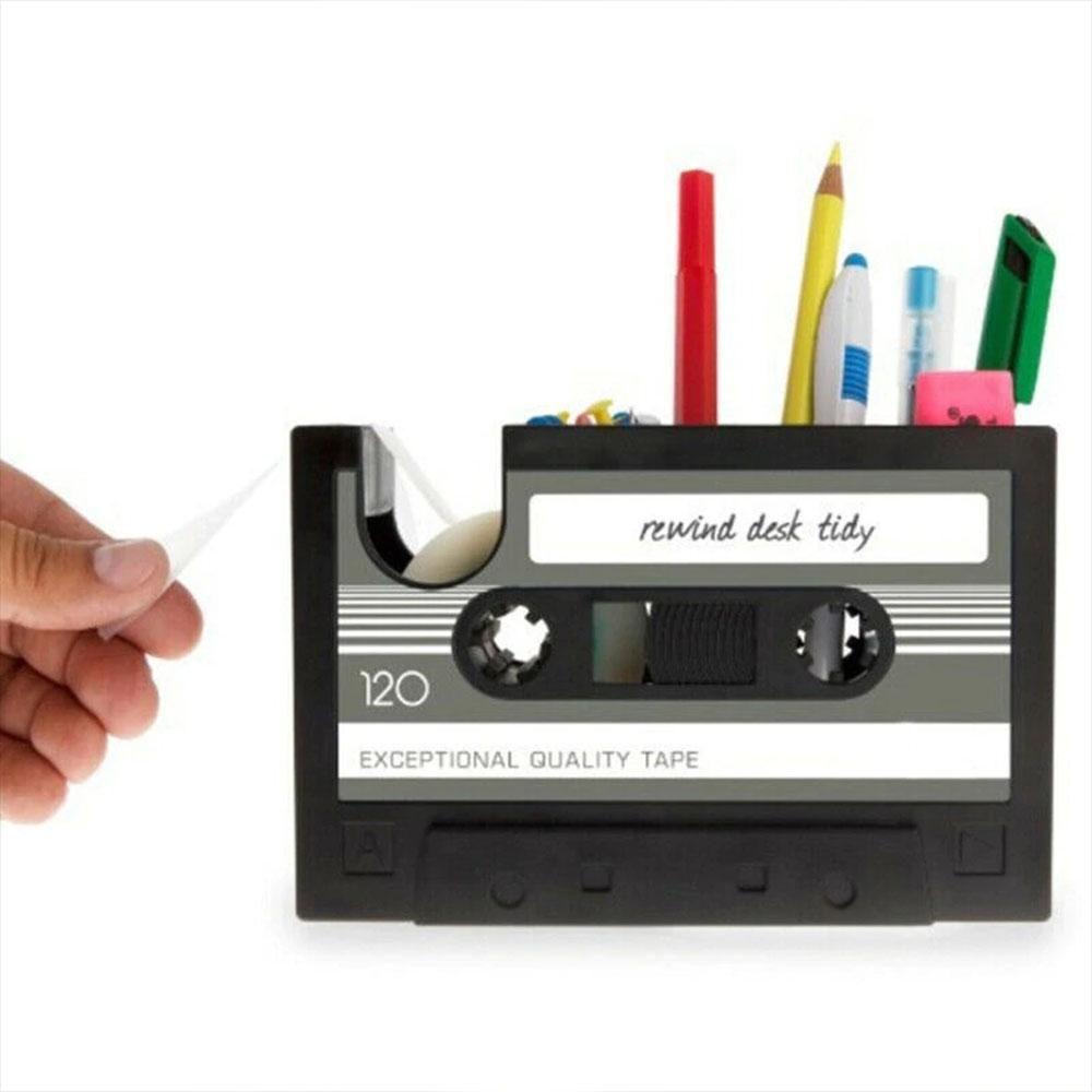 Retro Cassette Tape Office Desktop Organizer
