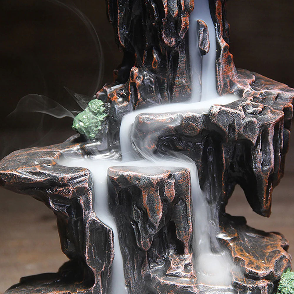 Heavenly Mountains Waterfall Incense Burner