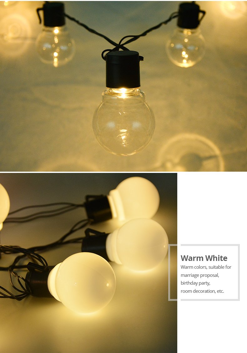LED Bulbs String Light Extra Long 5m 20 Bulbs