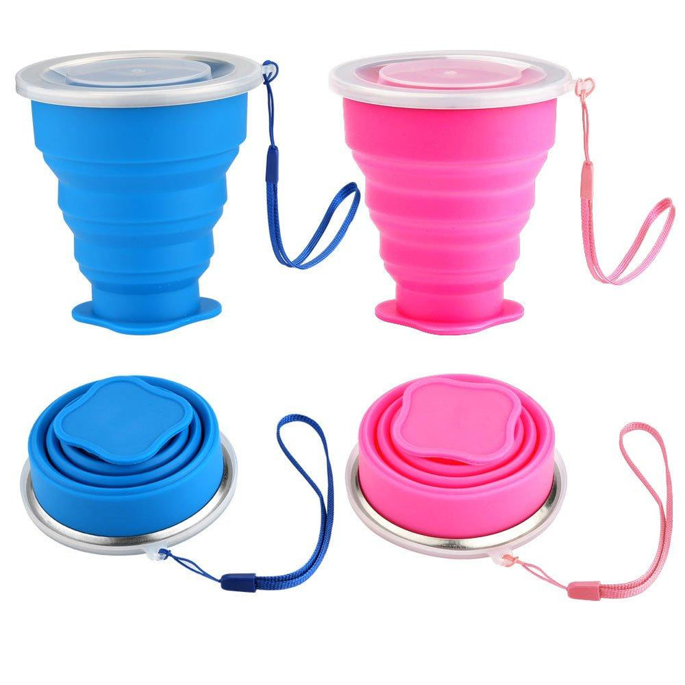 Silicone Collapsible Travel Cup (Set of 2)