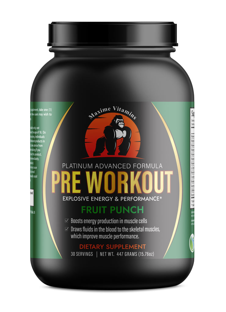 Pre-Workout Supplement, Fruit Punch