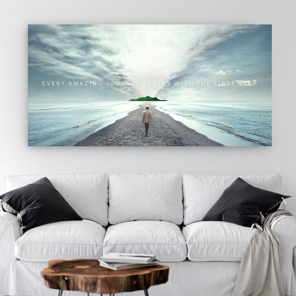 Every Amazing Journey Begins With The First Step Canvas Art