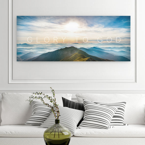 Glory To God Wall Art By Canvas HVN