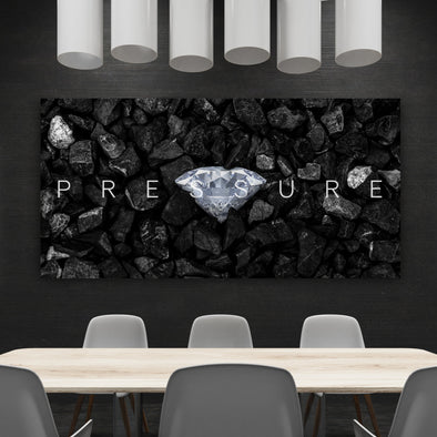 Pressure Motivational Office Art By Canvas HVN