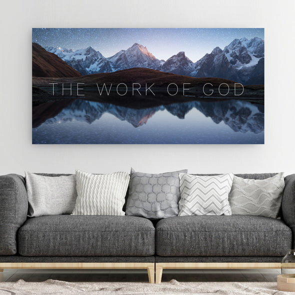 The Work Of God Canvas Art By Canvas HVN