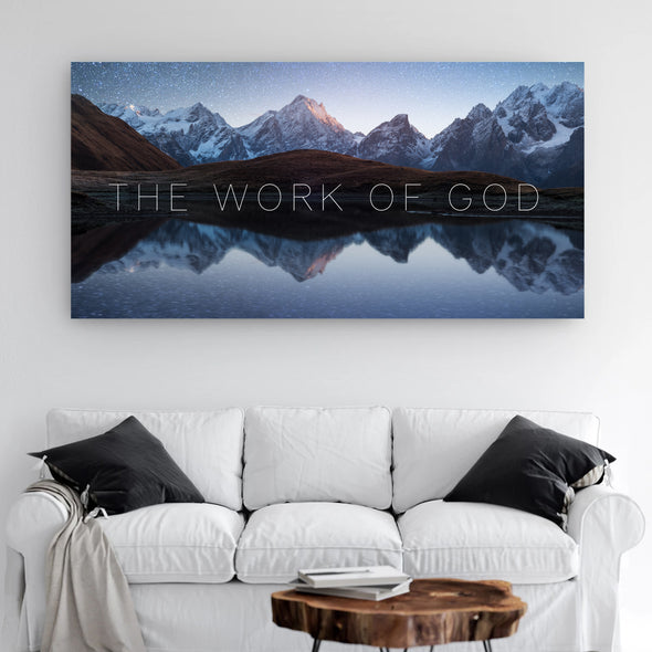 The Work Of God Canvas Wall Art By Canvas HVN