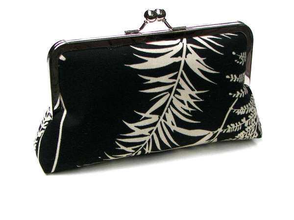 Julie Clutch Lined in Silver Pink Dupioni Silk