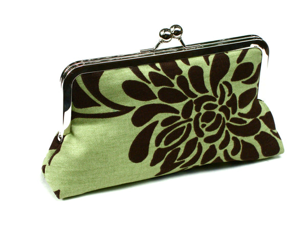 Niam Clutch Lined in Candy Apple Dupioni Silk