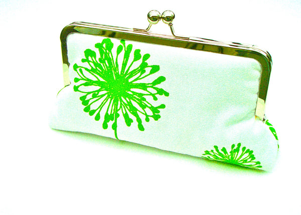 Courtney Clutch Lined in Ink Dupioni Silk