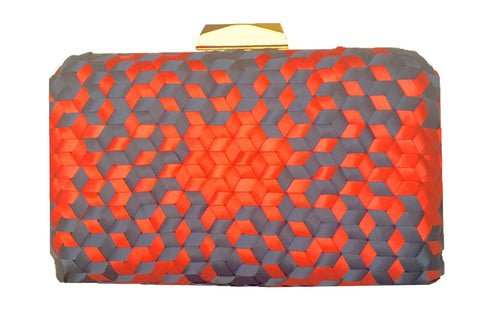 Addison 3D Handwoven Clutch