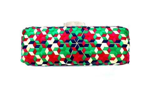 Rita Handwoven Geometric Clutch