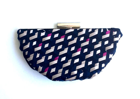 Lauren Geometric Handwoven Clutch