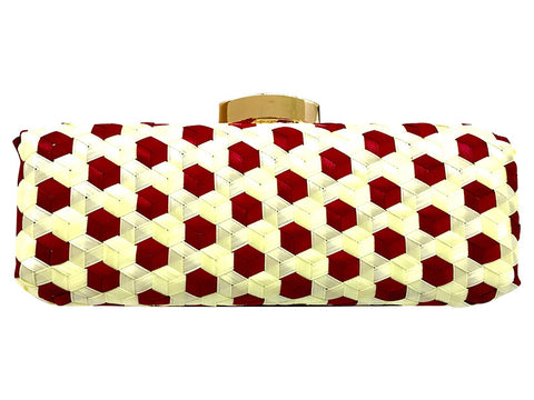 Quinn Geometric Handwoven Clutch
