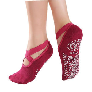 Anti Slip Cotton Yoga Socks - Yoga Chance