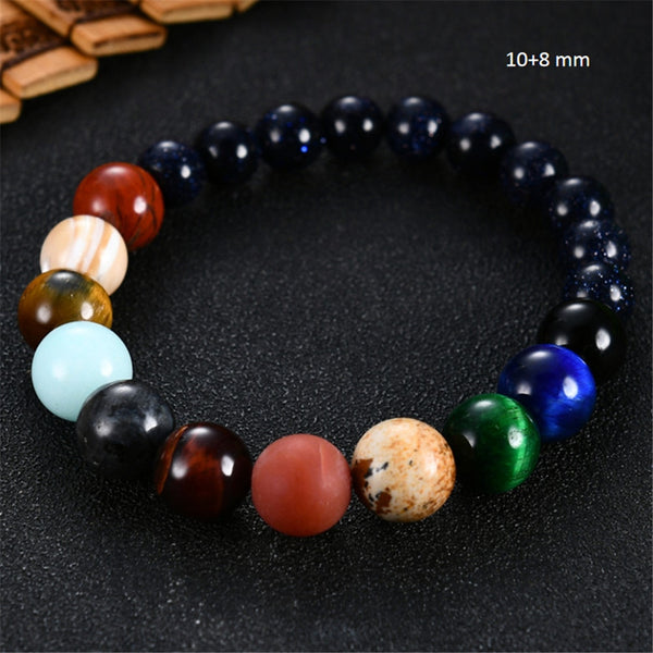 Eight Planets Bead Bracelet Natural Stone - Yoga Chance