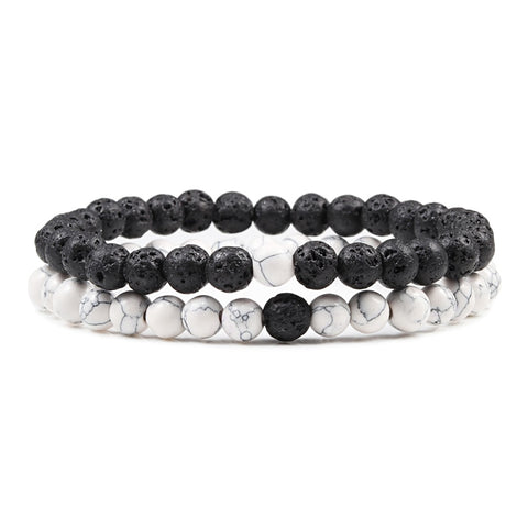 Natural Stone Couples Bracelet - Yoga Chance
