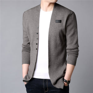 Men Casual Knitted Cotton Wool Sweater Men Clothes