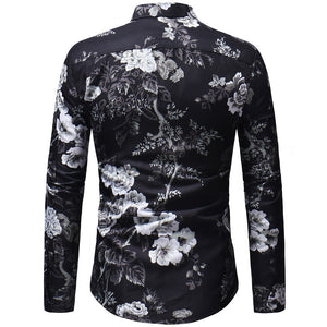Printed Shirt Male Long Sleeve 3D Print