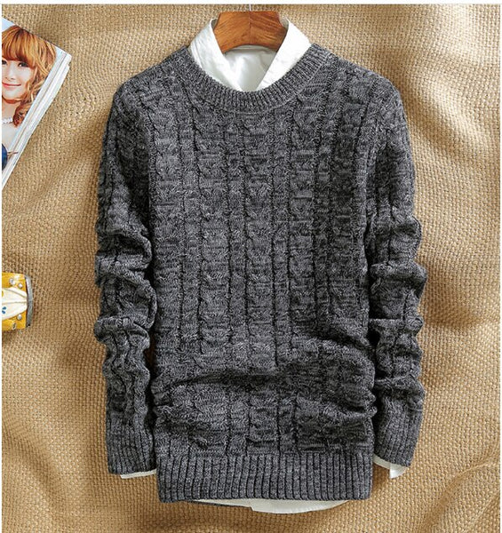 New Fashion Men 'S Turtleneck Sweater Thick Warm Male Winter