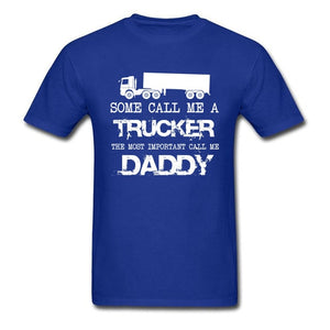 TRUCKER Print black Tops & Tees On Sale Gift T Shirt For Dad Boy Tshirts Men Streetwear Letter Summer Labor Day T-Shirt UFO
