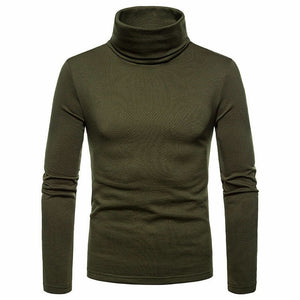 Sweater Turtleneck Pullover Male Double Collar Free shipping Tops