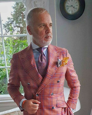 Double Breasted Mens Suits Wedding Dress