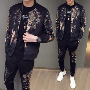 Jacket + Pant Tracksuit Set Male