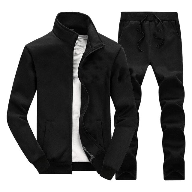 Zipper Jackets+Pants 2 Pieces Sets