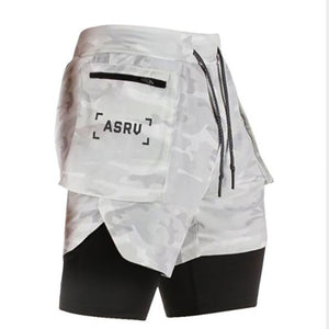 New Men's 2 in 1 Joggers Shorts