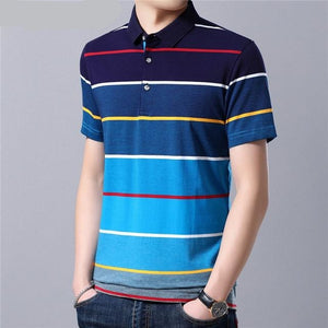 Cotton T Shirt Men 2019 Spring Summer Short Sleeve T-Shirt Men Streetwear Fashion Casual Turn-down Collar Tshirt S95115