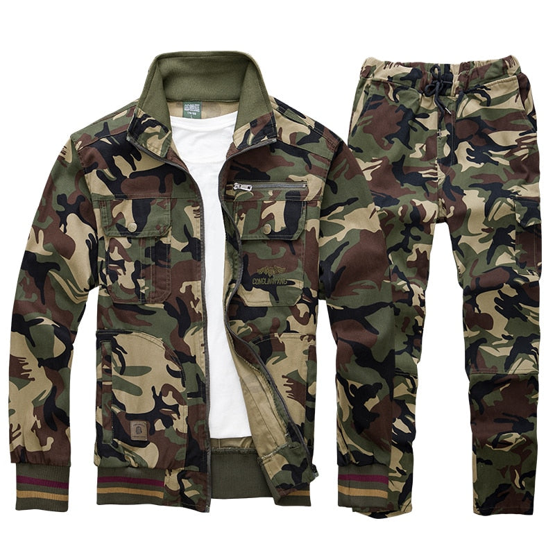 Suit Military Cargo Sets Male
