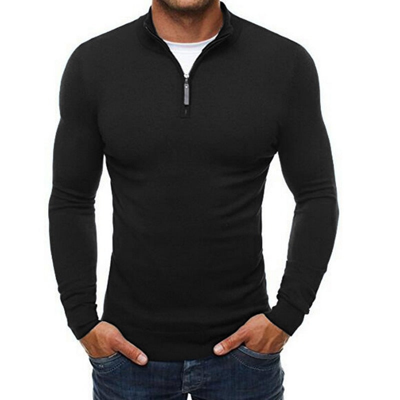 Autumn Men's Sweater Pullovers Simple Style Knitted V Neck Sweater