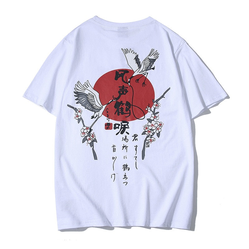 SLOUPPG Chinese style Harajuku short-sleeved high quality Original print cotton men's tshirt Casual Oversize hip hop tshirt men