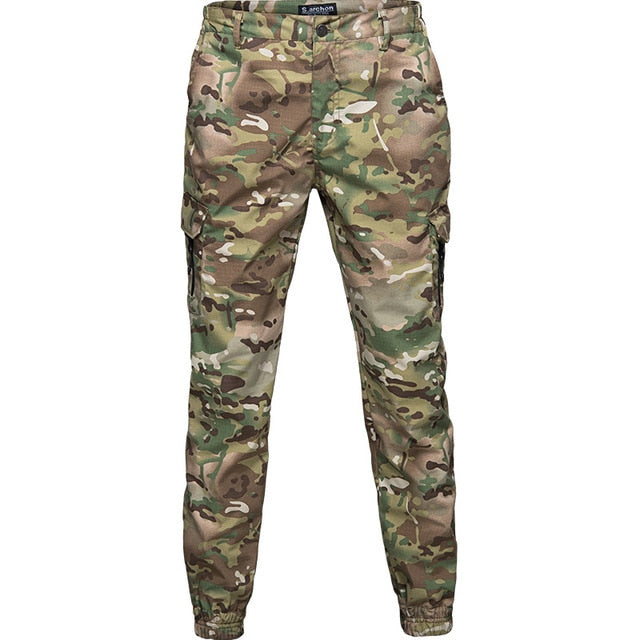 Mege Brand Men Fashion Streetwear Casual Camouflage Jogger Pants