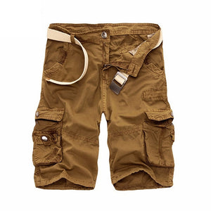 Men's Camo Cargo Shorts Cotton Military Camouflage Male Jogger