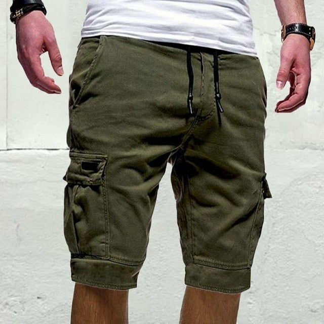 Men Casual Shorts Jogger Sports Cargo Shorts Military