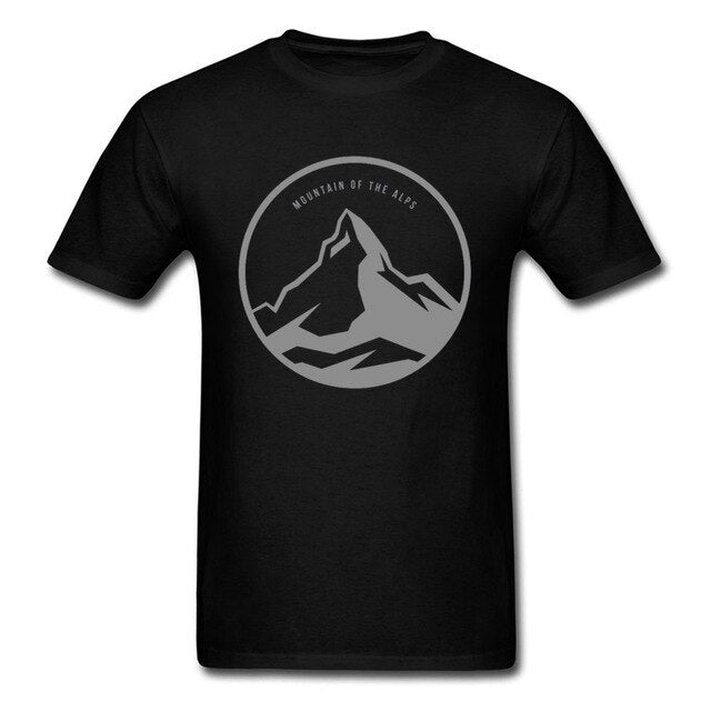 High Quality Mens Tshirts Oversized Customized European T Shirt Mountain New Arrival Funny Summer Tops & Tees Round Neck Cotton