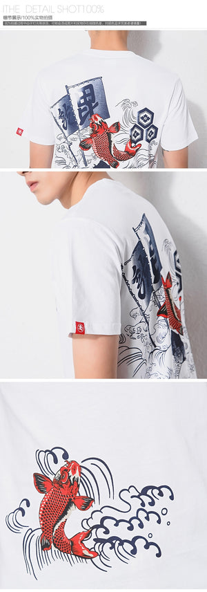 Zongke 2020 New Japanese Print Short Sleeve T Shirt Men tshirt Male Summer Cotton Tee Shirt Casual Tops Fashion M-5XL Clothing