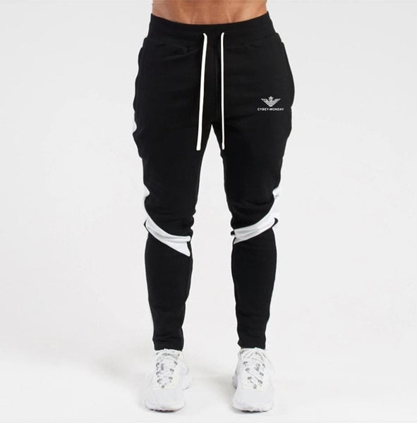 winter men's new fashion casual transport pants casual sports stitching fleece pants sports and leisure wild men's trousers