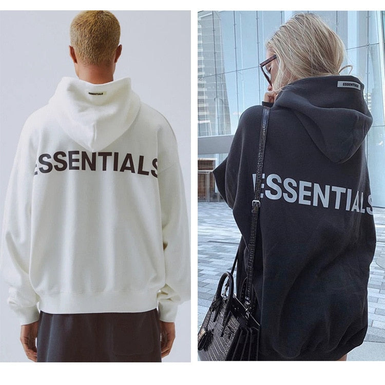 Fog double thread essentials embroidered reflective men's and women's clothing hoodie high street top 100% cotton high quality