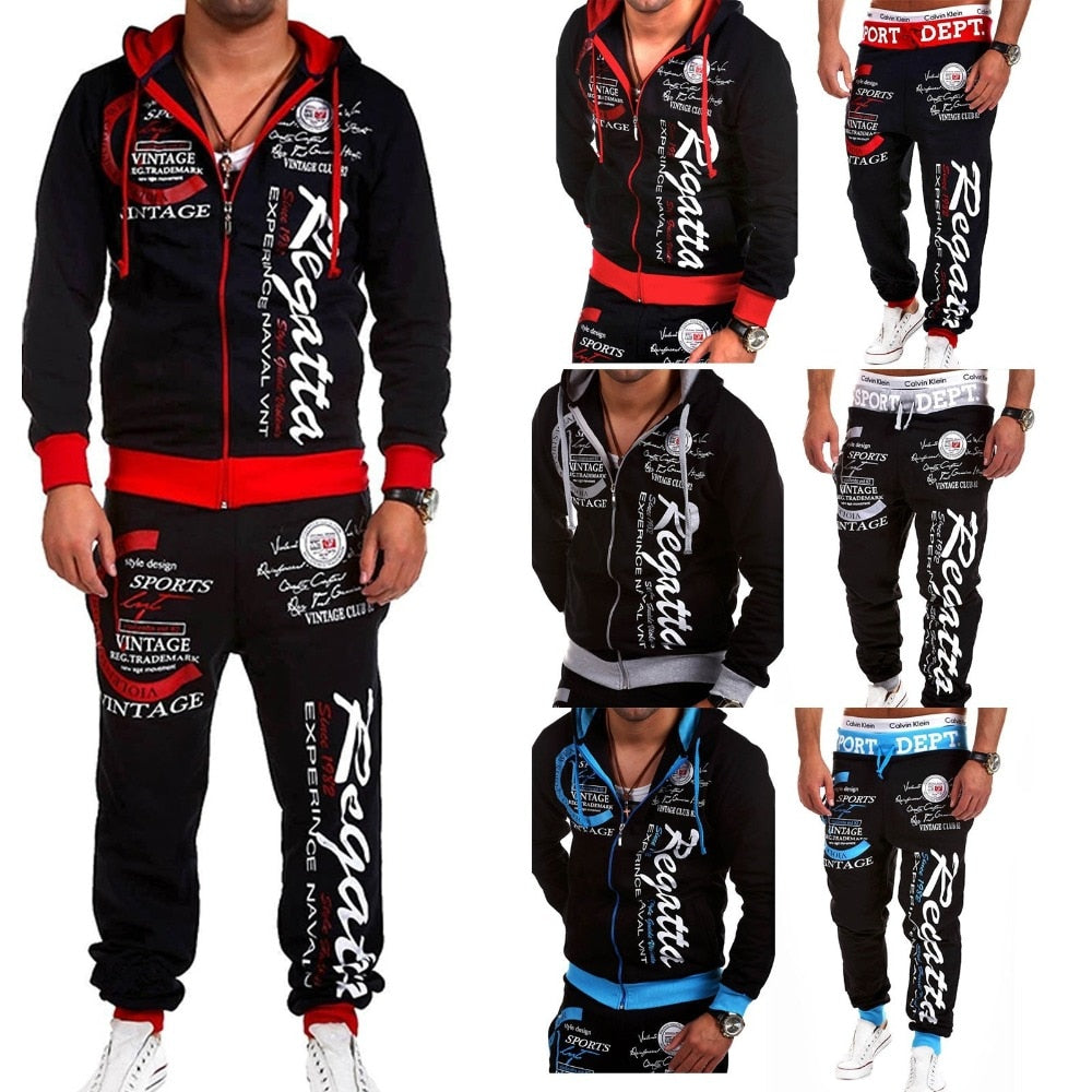 New Fashion Hoodies Tracksuits Men Sporting Suit Set