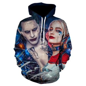 3d print clown Hooded  anime hoodie Fashion off white Sweatshirt
